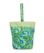 Lunch Tote - Green Paisley