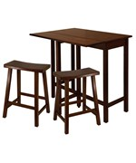 Lynnwood High Table with 2 Saddle Seat Stools - by Winsome Trading