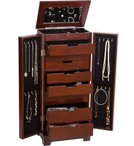 Wooden Jewelry Armoire Image