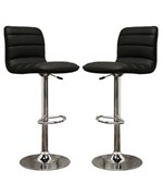 Lyris Faux Leather Bar Stool - Black
