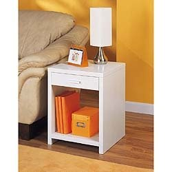 Dawn Side Table with Drawer - Contemporary Style Image