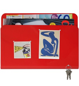 Magazine Pocket and Magnetic Memo Board Image