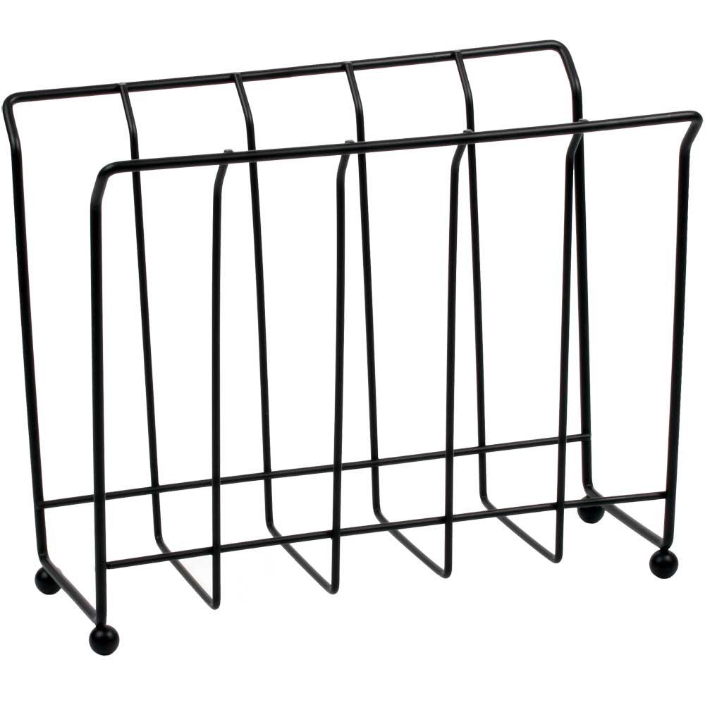 Standing Magazine Rack - Black Wire in Floor Magazine Racks