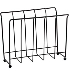 Standing Magazine Rack - Black Wire Image