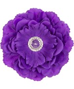 Magnetic Purple Locker Decor Flower