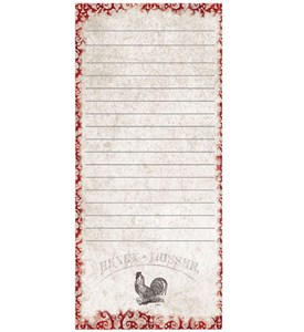 Magnetic Shopping List Pad - Rooster Image