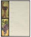 Magnetic Weekly Planner - Wine Country