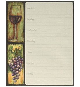 Magnetic Weekly Planner - Wine Country Image