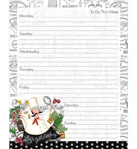 Magnetic Weekly Planner - Happy Chef Image