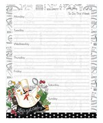 Magnetic Weekly Planner - Happy Chef