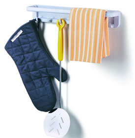 Magnetic Towel Bar amp Storage Hooks in Kitchen Towel Holders