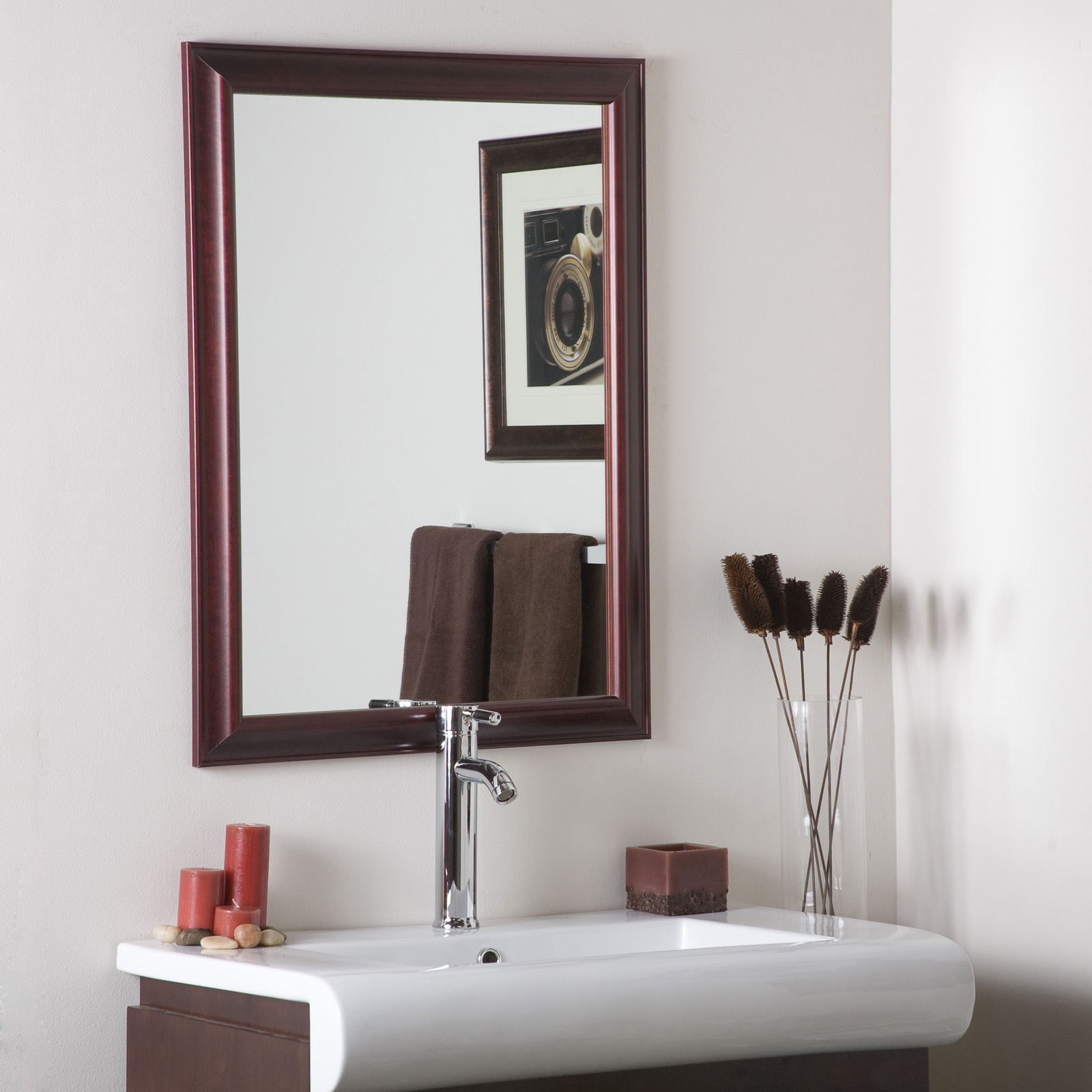 Beautiful Mahogany Framed Wall Mirror Price: $138.99