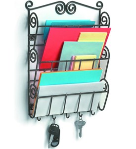 Mail Holder with Key Hooks - Scrolling Image