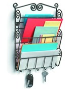 Mail Holder with Key Hooks - Scrolling
