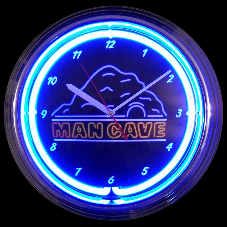 Man Cave Neon Clock by Neonetics in Wall Clocks