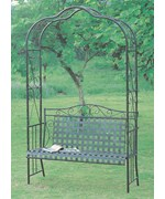 Mandalay Iron Arbor Bench by Lauren and Co.