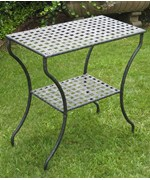 Two Tier Outdoor Table - Black