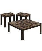 Marble Top 3 Piece Table Set