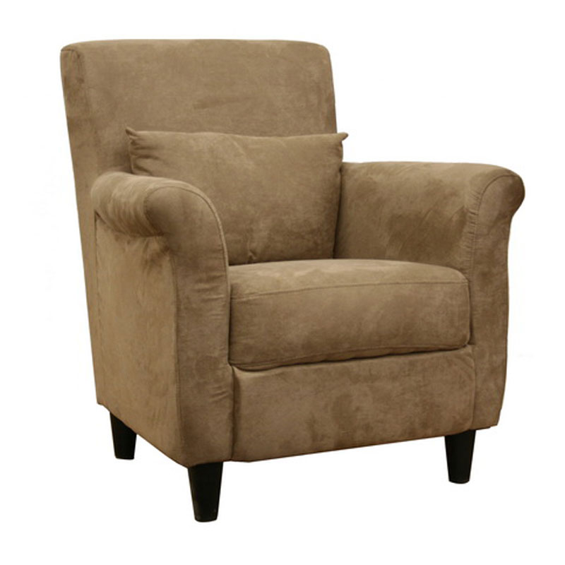 Microfiber club chair tan in accent chairs