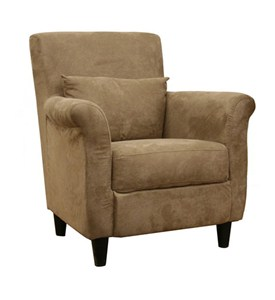Marquis Tan Microfiber Club Chair - by Wholesale Interiors - LCY-31-CC-4 Image