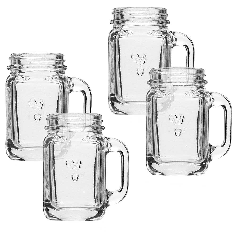 Mason jar shot glasses set of 4 in glassware - Mason jar goblets ...