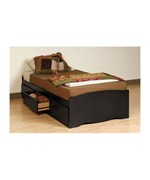 Twin Platform Storage Bed