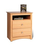 Sonoma Tall Two-Drawer Night Stand - Maple
