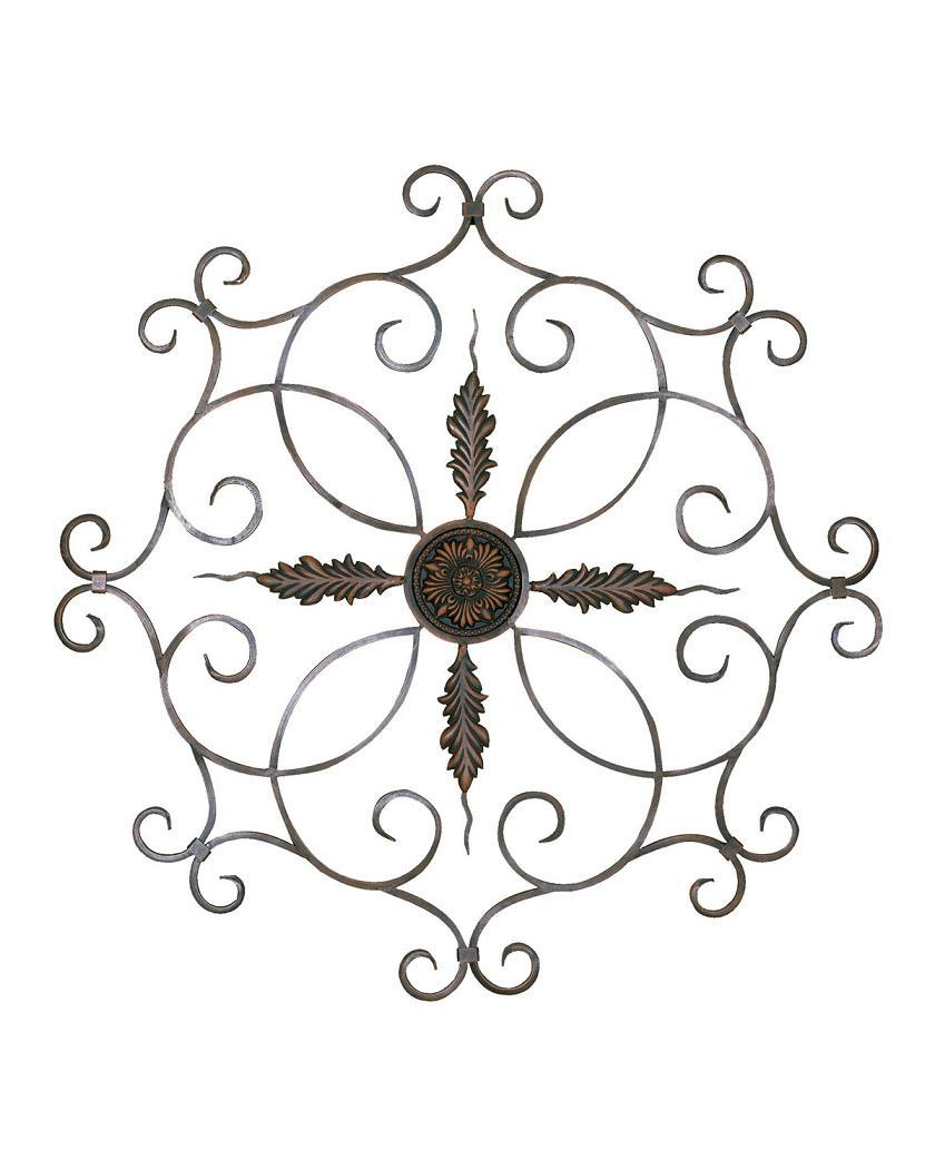 Medallion Wall Decor In Metallic Wall Art