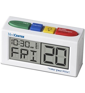 MedCenter 4 Alarm Talking Reminder Clock Image