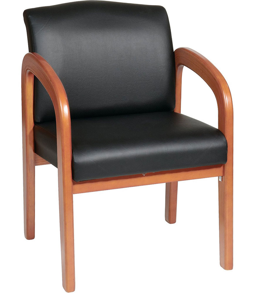 Faux Leather Guest Chair In Waiting Room Chairs