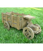 Decorative Outdoor Planter-Cedar Truck