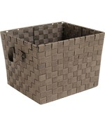 Medium Woven Straps Storage Tote - Java