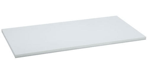White Solid Wood Laminate Shelf In Freedomrail Solid Shelving