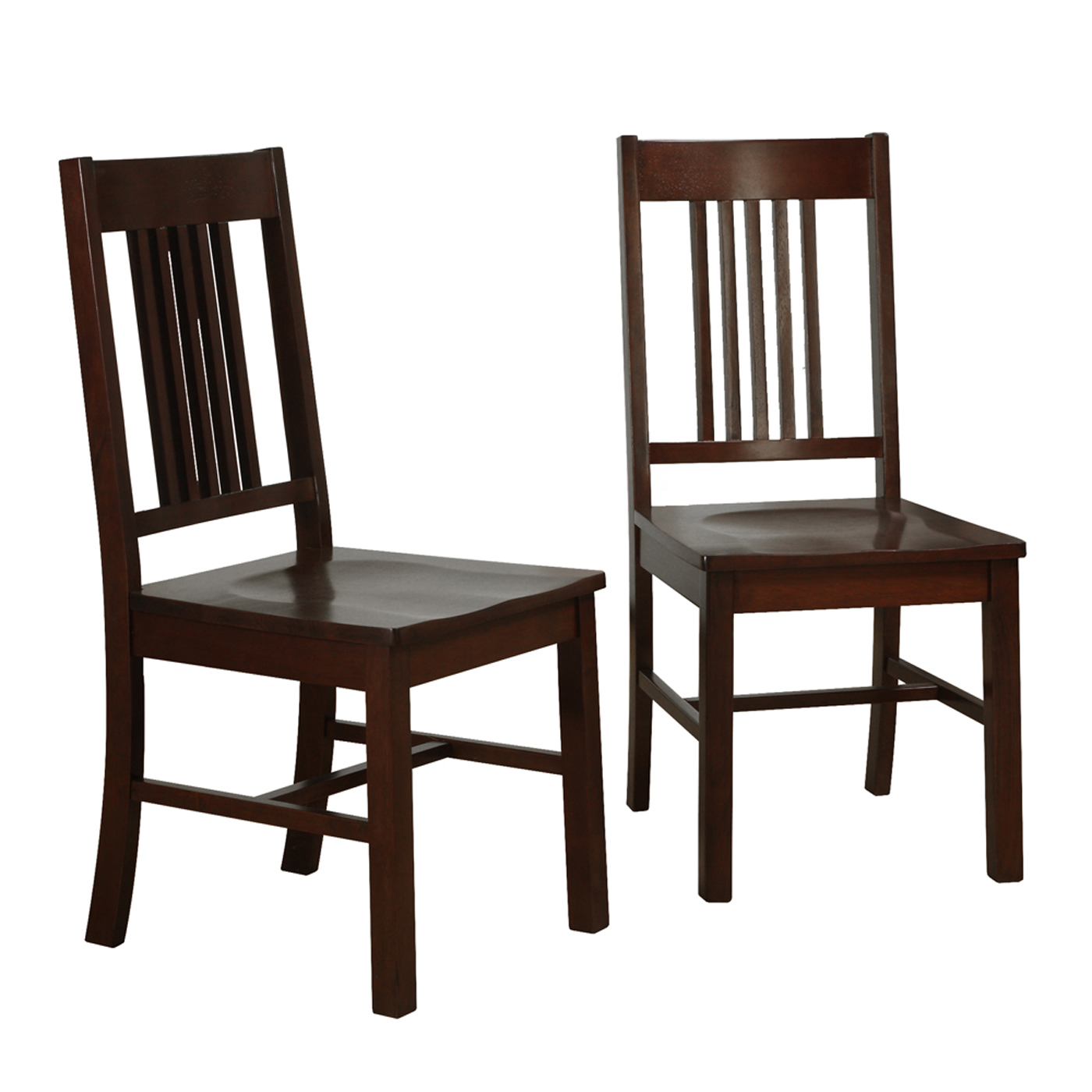 Wooden Dining Chairs ~ Wood dining chairs cappuccino set of in