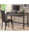 Mesa Dark Brown Writing Desk and Parson Chair Set by Wholesale Interiors