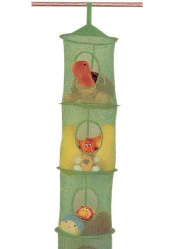 Childrens Kids 3 Tier Toy Bedroom Storage Shelf Unit 8: Colorful Mesh Hanging Closet Organizer In Kids Closet