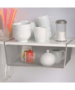 Silver Mesh Under Shelf Storage Basket - Large