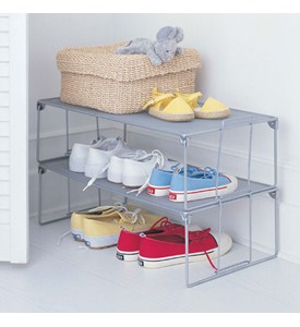 Stackable Shoe Rack - Mesh Image