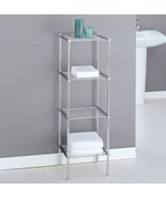 Metro Four-Tier Chrome Bath Shelf