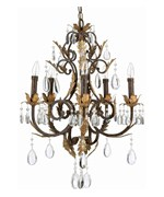 Stedim Metal and Crystal Ceiling Light
