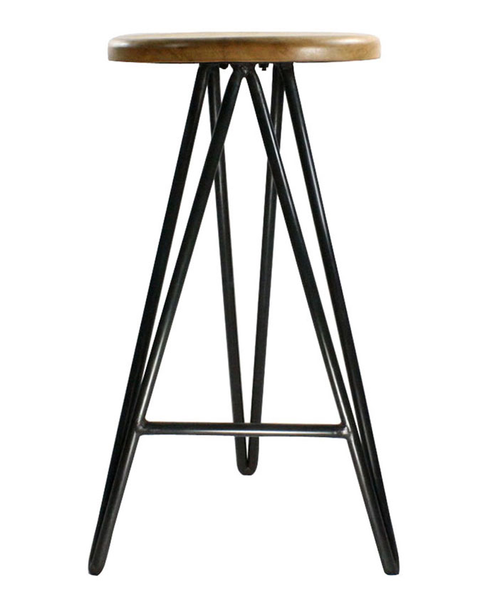 Metal And Wood Bar Stool In Modern Bar Stools