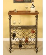 Metal and Wood Wine Rack by Passport Accent