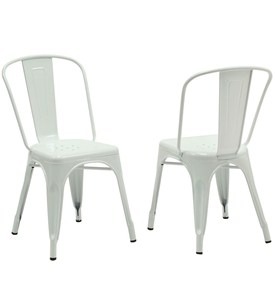 Metal Cafe Chairs (Set of 2) Image