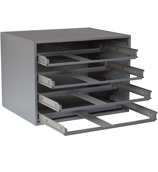 Metal Case Rack In Small Parts Storage