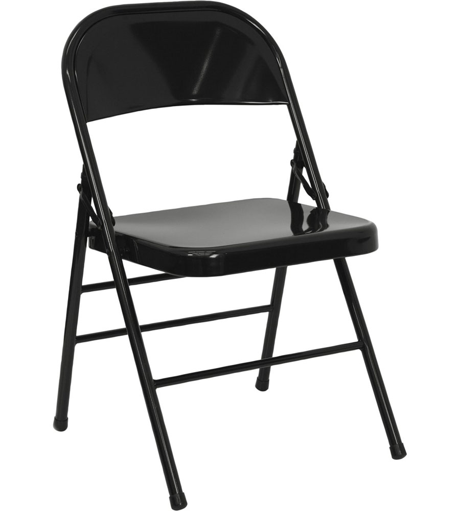 Metal folding chairs set of 2 in dining chairs