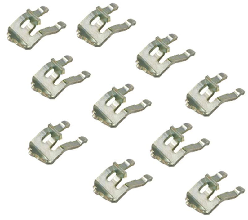 Metal Clips For Wire Support Pole Set Of 10 In Wire Closet Shelving