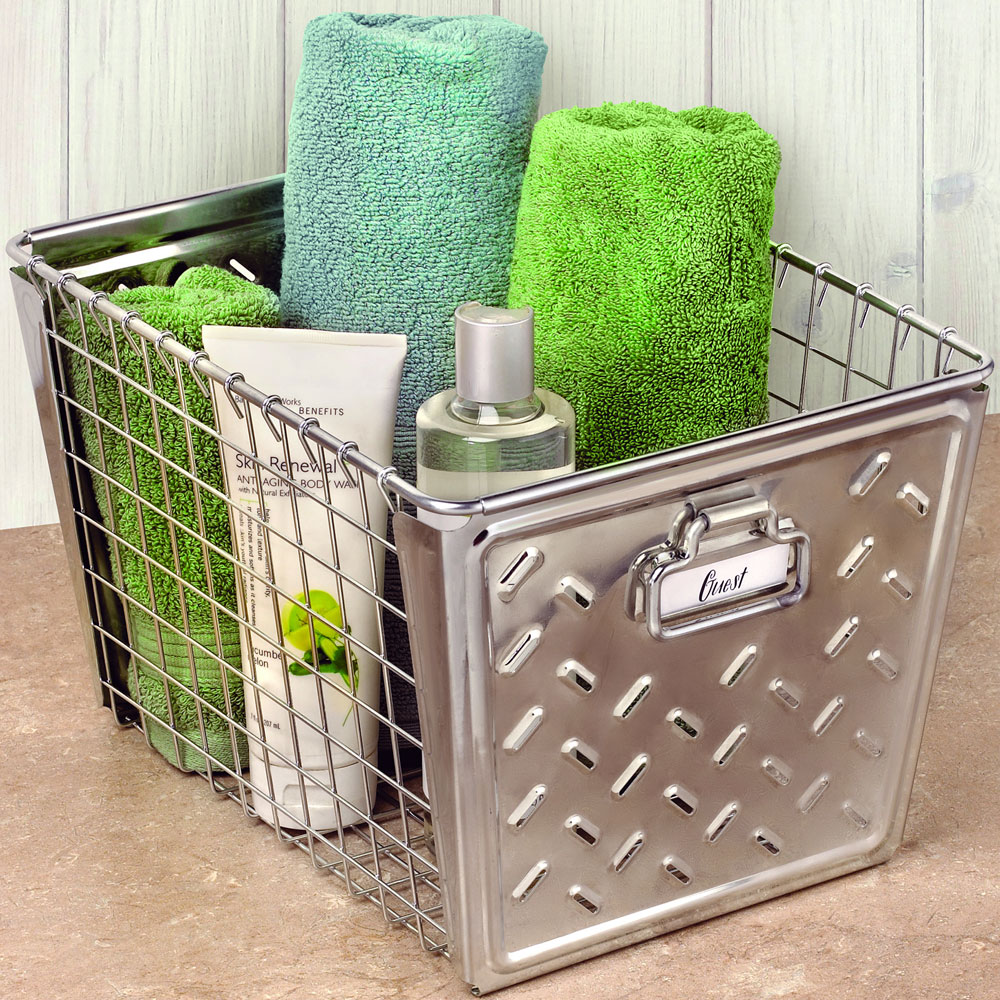 metal storage basket - Metal Storage Bins