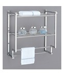Metro 2 Tier Wall Rack with Towel Bars