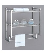 Glass Bath Shelf and Wood Bath Shelves | Organize-It