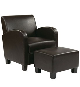 Metro Chair with Ottoman by Office Star Image